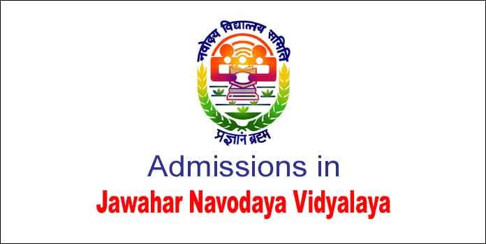 Admissions in Jawahar Navodaya Vidyalaya (JNVST) for Class VI