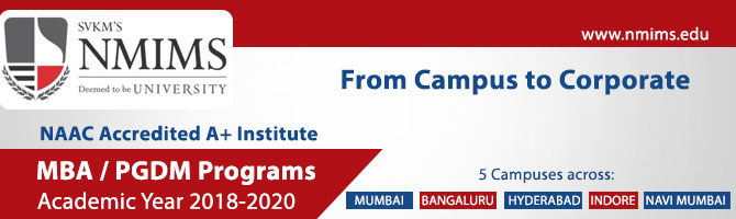 MBA PGDM Admissions NMIMS 2018