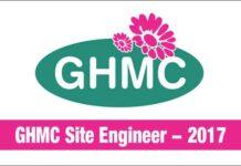 GHMC Site Engineer Recruitment 2017