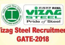 Vizag Steel Recruitment through GATE 2018