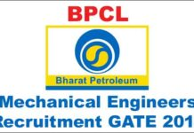 BPCL Mechanical Engineers recruitment GATE 2018
