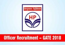 HPCL Officer Recruitment through GATE 2018