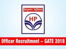 HPCL Officer Recruitment through GATE 2018