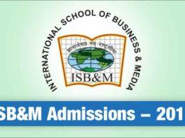 ISB&M Admissions 2018