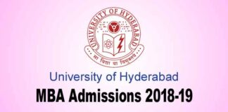University of Hyderabad MBA admissions