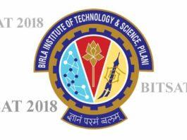 bits pilani admission BITSAT 2018 notification