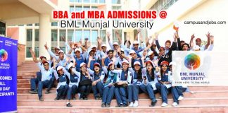BML Munjal University MBA Admissions 2019