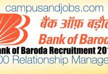 Senior Relationship Managers Recruitment 2019