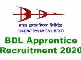 BDL Apprentice Recruitment 2020
