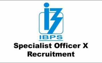 IBPS SO X Recruitment 2021