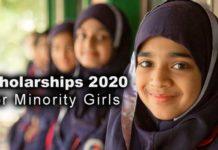 Scholarship Notification 2020 for Minority Girls