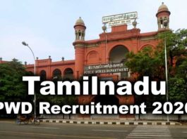 TN PWD Recruitment 2020 - 280 posts