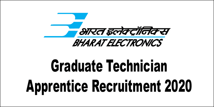 BEL Apprentice Recruitment 2020