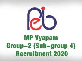 MP Vyapam Group-2 Recruitment 2020