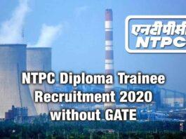 NTPC Recruitment 2020 Diploma