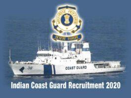 Indian Coast Guard Recruitment 2020