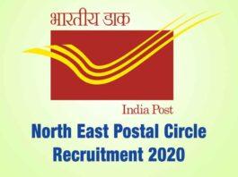 North East Postal Circle Recruitment 2020
