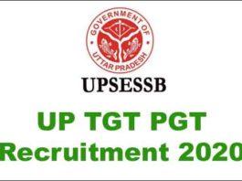 UP TGT PGT Recruitment 2020