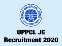 UPPCL JE Electrical Recruitment 2020