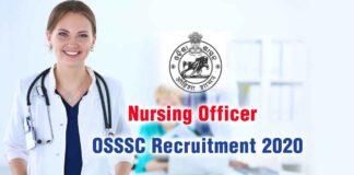 OSSSC Recruitment 2020