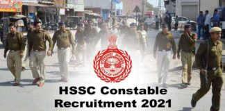 HSSC Constable Recruitment 2021
